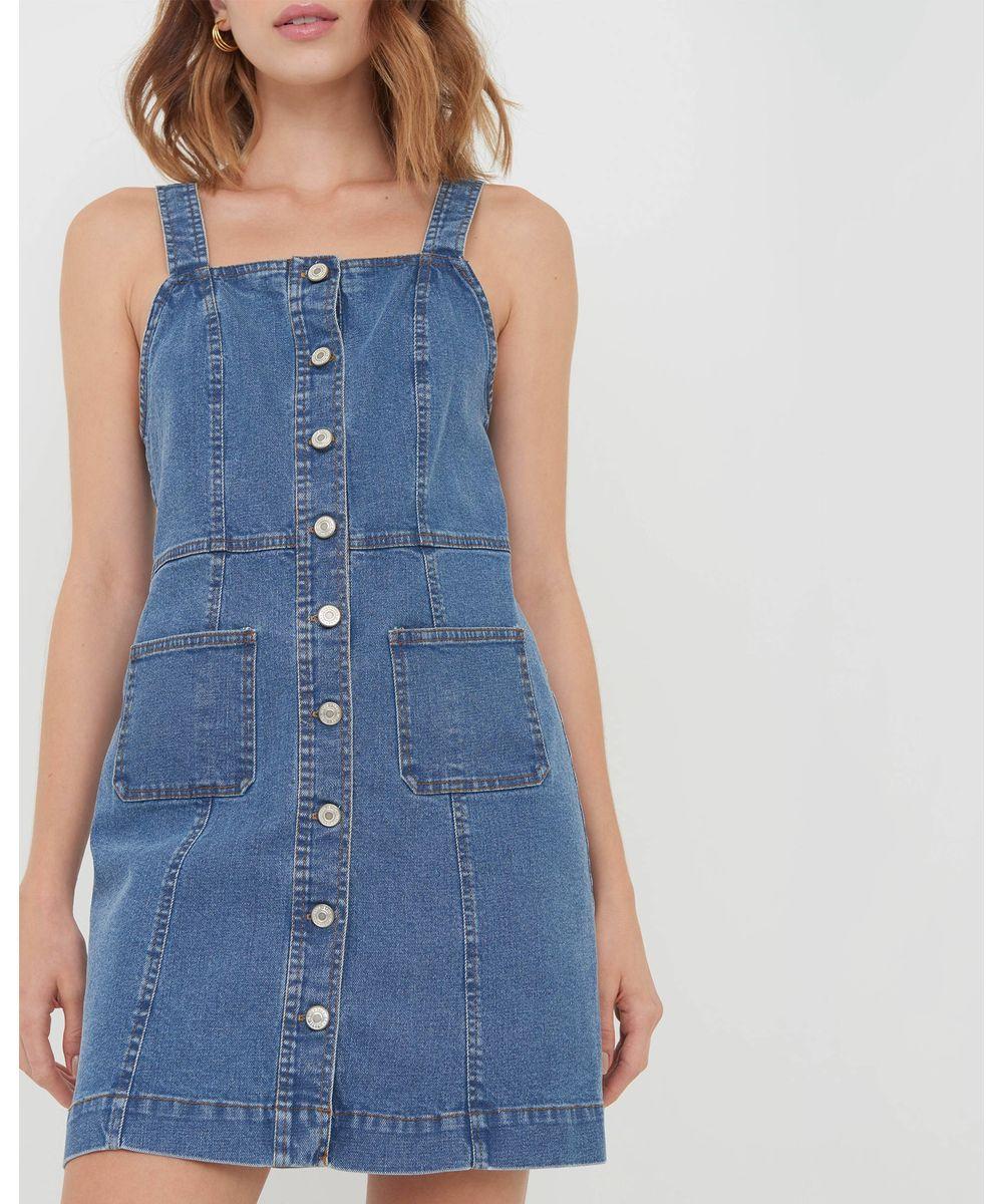 Vestidos jardineiras jeans
